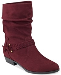 Indigo Rd. Jalena Slouchy Booties Women's Shoes Wine