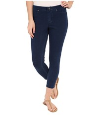 Hue Super Smooth Denim Capris Ink Wash Women's Jeans Blue