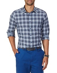 Nautica Classic Fit Tartan Plaid Sportshirt Blue