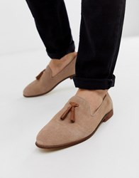 Kg By Kurt Geiger Loafers In Pink Suede With Contrast Tassel Detail