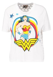 Paul And Joe Sister Wonder Print Tshirt Blanc White