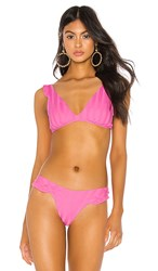 Luli Fama Bachelorette And Her Babes Ruffle Cross Back Halter Top In Pink. Party Pink