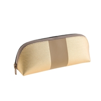 J.Crew Center Striped Pencil Pouch Gold Natural