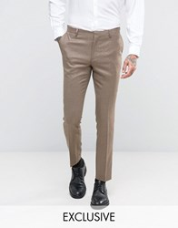 Number Eight Savile Row Skinny Suit Trouser Camel Beige