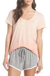 Make Model 'Gotta Have It' Tee Coral Pale Coral Pink Ombre