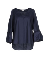 Gold Case Blouses Dark Blue