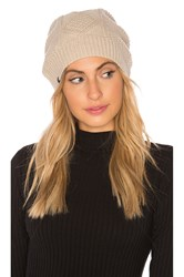 Plush Fleece Lined Cable Knit Beanie Beige