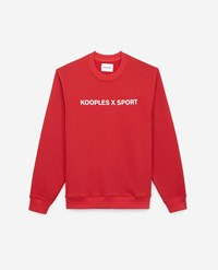 The Kooples Red Sweatshirt With Large Embroidery