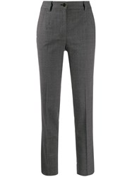 Dolce And Gabbana Checked Tailored Trousers Grey