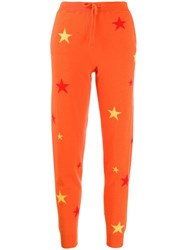 Chinti And Parker Star Patterned Track Trousers Orange