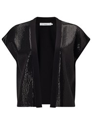 John Lewis Sequin Knitted Jacket Black