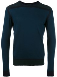 Etro Two Tone Jumper Blue
