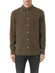 Allsaints Medora Long Sleeve Shirt Khaki