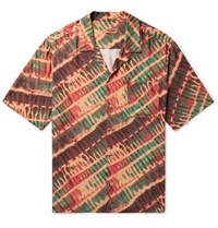 Missoni Camp Collar Tie Dyed Twill Shirt Orange