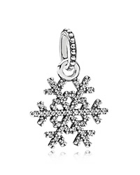 Pandora Design Pandora Pendant Sterling Silver And Cubic Zirconia Winter Kiss Silver Clear