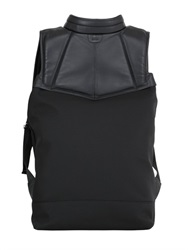 Casbia Smooth Leather And Mesh Backpack