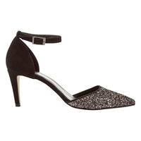 Mint Velvet Sandi Pewter Glitter Court Shoe