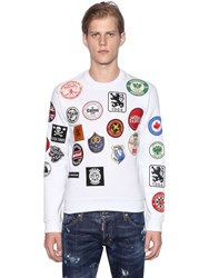 Dsquared Military Glam Patches Cotton Sweatshirt