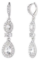Givenchy Women's Pear Double Drop Earrings Silver