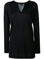 Woolrich V Neck Sweater Women Polyamide Viscose M Black