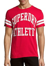 Superdry Crewneck Printed Short Sleeve Tee Indiana Red