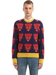 Gucci Tigers Wool Jacquard Knit Sweater