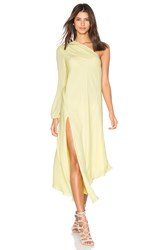 Mason By Michelle Mason One Shoulder Caftan Yellow