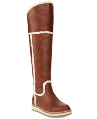 White Mountain Tomi Over The Knee Cold Weather Boots Women's Shoes Cognac