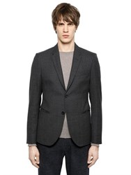 Emporio Armani Textured Virgin Wool Jacket