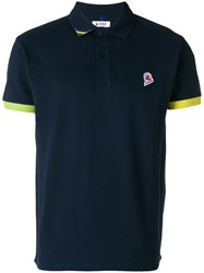 Invicta Contrast Hem Logo Polo Shirt Blue