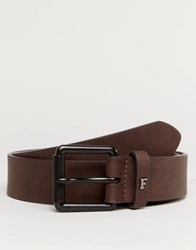 French Connection Casual Leather Belt Brown