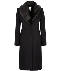 Austin Reed Signature Black Princess Seam Coat
