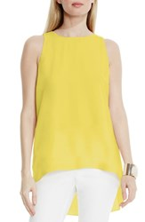 Vince Camuto Women's High Low A Line Blouse Lemongrass