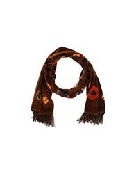 Class Roberto Cavalli Accessories Oblong Scarves Women Brown