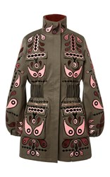 Holly Fulton Cathy Fur Lined Coat Green