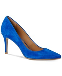 Calvin Klein Women's Gayle Pointed Toe Pumps Women's Shoes Fearless Blue Kidsuede