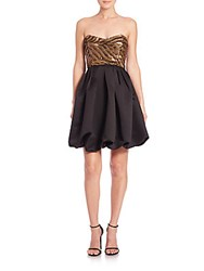 Parker Black Remi Beaded Top Party Dress Black