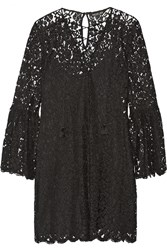 Rachel Zoe Megali Corded Lace Mini Dress Black