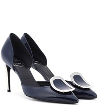 Roger Vivier Dorsay Sexy Choc Patent Leather Pumps Blue