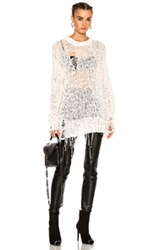 R 13 R13 White Out Sweater In Neutrals