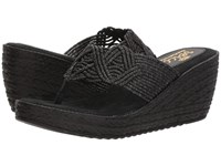 Sbicca Diddy Black Wedge Shoes