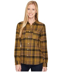 The North Face Long Sleeve Willow Creek Flannel Tnf Oatmeal Heather Plaid Long Sleeve Button Up Brown