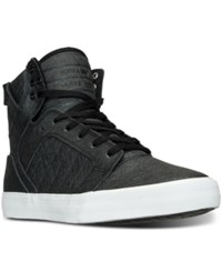 Supra Men's Skytop High Top Casual Sneakers From Finish Line Black Fiberglass White