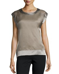 Peserico Sleeveless Organza Two Piece Top Women's