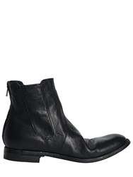 Officine Creative Washed Leather Cropped Boots