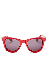 Moschino Cat Eye Sunglasses 50Mm Red Smoke Gradient