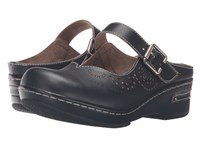 Spring Step Aneria Black Women's Clog Mule Shoes