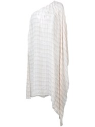 Thomas Wylde One Shoulder Tunic Nude And Neutrals