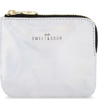 Sweet And Sour Iridescent Holographic Zipped Pouch