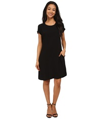 Allen Allen Short Sleeve Dolman Dress Black Women's Dress